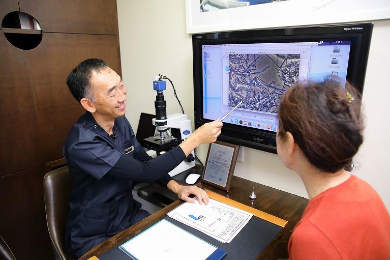 カウセリング+位相差顕微鏡検査+応急処置