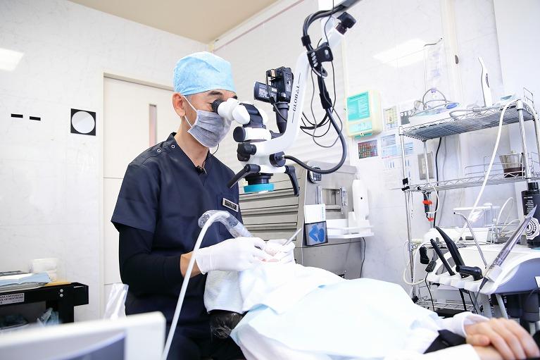治療計画に基づく歯の治療